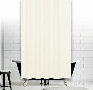 Light Cream Fabric Shower Curtain, Weighted Hem, Extra Long, Different Sizes