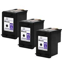 3PKs HP 61XL 61 XL Black Ink Cartridge For Deskjet 3050 3050A 3511 3512