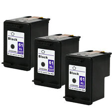 3PKs HP 61XL 61 XL Black Ink Cartridge For Deskjet 3050 3050A 3511 3512