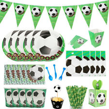 Football Soccer Birthday Party Boys Tableware Decoration Tablecloth Banner