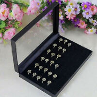 36 Rings Jewellery Display Storage Box Tray Show Case Organiser Earring Holder