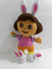 "9"" Dora the Explorer Plush Stuffed Dora Easter Bunny Toy Doll"