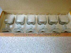 6 x 1970s Ravenhead Goblet Glasses SIESTA DESIGN 5.5 oz  Boxed Vintage Retro