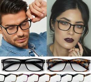 Super Trendy Reading Glasses Unisex Mens Ladies Nerd Retro Geek Cheap Big Lens U