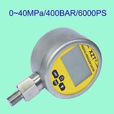 Hydraulic Digital Pressure Gauge-80mm-400BAR/6000PSI(BSP1/4) -Base Entry