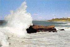 BR8803 le phare et la mer par gros temps Biarritz   France