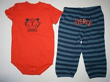 New Gymboree Orange Tiger Bodysuit Top & Fierce Rear Pant Outfit 12-18 M NWT Set