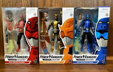 Beastmorphers Red Gold & Blue Power Rangers Lightning Collection Figures Lot New