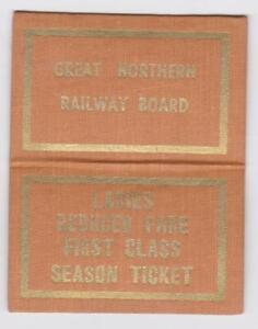 Great Northern Ireland Railway LEATHERETTE SEASON Ticket 0211