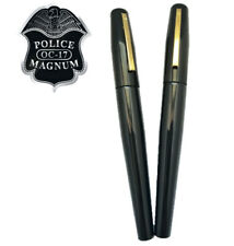 2 Police Magnum Black Pen Pepper Spray Self Defense Personal Protection Security