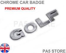 GOLF CHROME BADGE - MK4 MK5 MK6 LETTERS Turbo Diesel Car Boot VW Golf TDI GTI UK