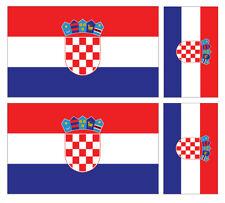 4 X croata Croacia Bandera Pegatina de vinilo coche furgoneta Ipad Laptop