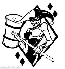 2 x 1 Harley Quinn Queen Suicide Squad Vinyl Decal Sticker Car Wall Truck Laptop