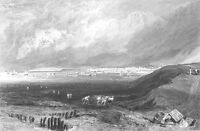 Kent, SEA COAST TOWN WHITSTABLE HARBOUR BOATS SHIPS ~ 1875 Art Print Engraving