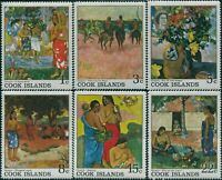 Cook Islands 1967 SG249-254 Gauguin Paintings set MNH