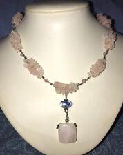 Pretty ~ Pink Quartz ~ Dropper Necklace