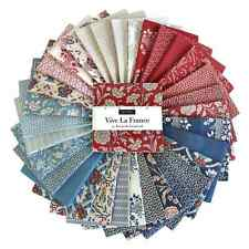 Moda Charm Pack Vive la France French General Fabric blue red vintage Rouennerie