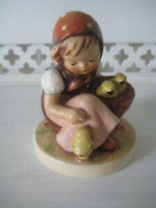 """Vintage 3 1/2"""" Hummel Mould 57/0 'Chick Girl' Figurine"""