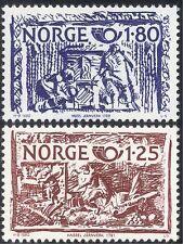 Norway 1980 Postal Co-operation/Hercules/Vulcan/Carvings/Myths/Legends 2v n43384