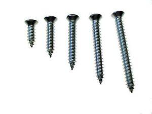 125pc #8 w/6 phillips oval head chrome automotive interior trim screws fits Ford