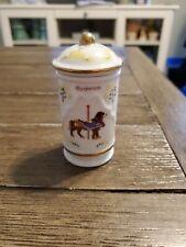 Lenox Carousel Spice Jar - Marjoram - with Lid - 1993