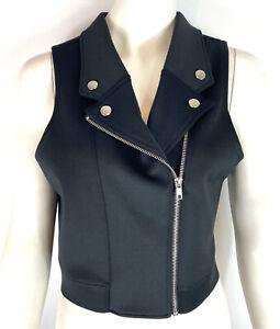 Balera Dancewear Womens Moto Vest Top Crop Black Size Small Adult SA