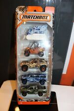 Matchbox Camo 5-Pack Blizzard Buster Yamaha Rhino Jeep Hummer Ford Diecast