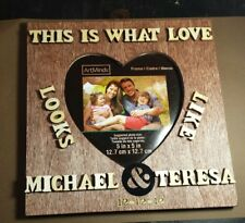 Custom Couple Gift, Personalised Wedding Frame, Wooden Name Sign, Wedding Gift