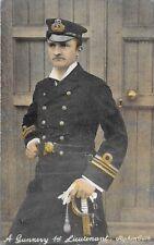 POSTCARD  SHIPS /  NAVY   A  Gunnery  Ist  Lieutenant