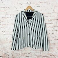 Weekend Max Mara Stripe Dual Pocket Blazer Womens Size Large