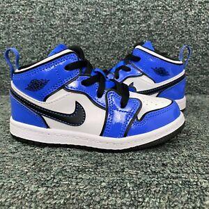 Jordan 1 Mid Toddler Signal Blue Size 9c BQ6933402