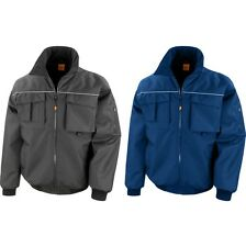 Mens Result Work Guard Sabre Pilot Microfleece Lined Jacket Coat