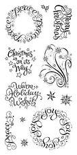 Inkadinkado Clear Stamps - Warm Holiday Wishes - Christmas, Xmas, Messages, Joy