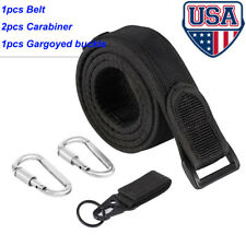 Mens Adjustable Tactical Combat Web Belt Buckle Waistband Military Rescue Rigger