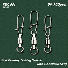 Ball Bearing Fishing Swivel with Coastlock Snap Connector Fishing Accessories