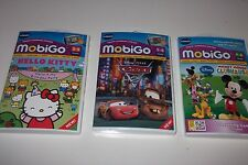Lot of 3 Vtech Mobigo & Mobigo 2 - Mickey Mouse Hello Kitty Disney Cars 2 - NEW