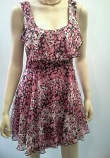 REVIEW Size 10 Multi Print Chiffon Layer Frill Party Dress NEW Tags RRP $269.99