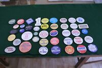 Vintage Lot of 42 Collectible National & Regional Political Pinbacks