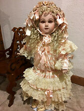 "Antique Repro Porcelain 26� Tete Jumeau Doll ""Claudette� By Patricia Loveless!"
