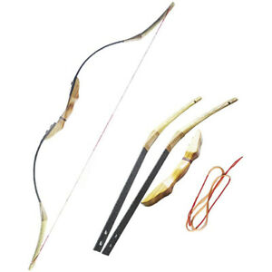 Traditional Recurve Bow 30-50lbs Wooden Horse Longbow Takedown Archery Hunting
