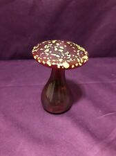 Vintage Blown Glass Mushroom Paperweight