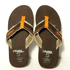 Frisky Brown And Orange Sandals Flip Flops Mens Size 9
