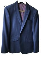 Mens Cedar Wood State Mid Blue Slim Fit Suit Jacket Size 38S - Nice with Jeans