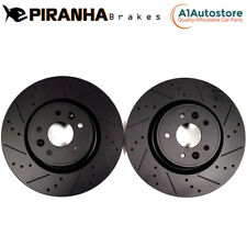 BMW M3 E30 2.3 LHD 87-90 FRONT PERFORMANCE BRAKE DISCS BLACK DIMPLED GROOVED