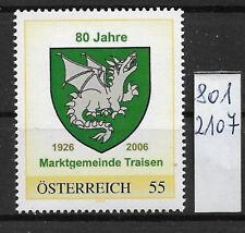 Österreich PM personalisierte Marke 80 Jahre Markt TRAISEN 8012107 **
