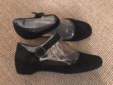 Camper Serena Black Suede Mary Jane shoes size 40 EU 7 UK