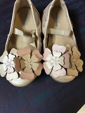 Toddler Girls Size 7 Ballet Flats By Cat & Jack Great Condition!