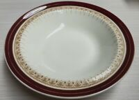 Alfred Meakin Royal Wembley Cereal Bowl c1945-60s Made in England Burgandy Band