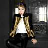 Fashion Women Double Breasted Military Uniform Blazer Jacket Coats Retro Suit