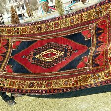 "Authentic 4'3""×8'' Antique 1900-1930s Wool Pile Tribal Rug Turkey"